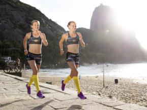 compression socks athletes women yellow