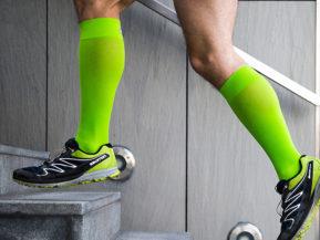 Bauerfeind Compression Socks Men Neon Green
