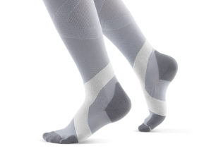 Bauerfeind Compression Socks Women Gray and White