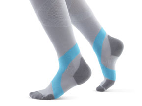Bauerfeind Compression Socks Women Gray and Teal