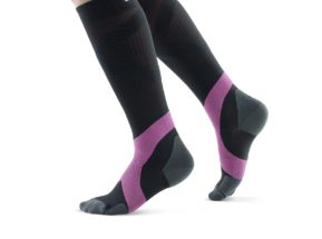 Bauerfeind Compression Socks Women Black and Pink